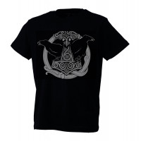 Mjolnir with Ravens t-shirt