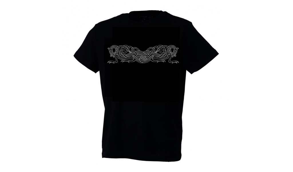 Urnes /ringerike style t-shirt by Ian Ibæk Møller